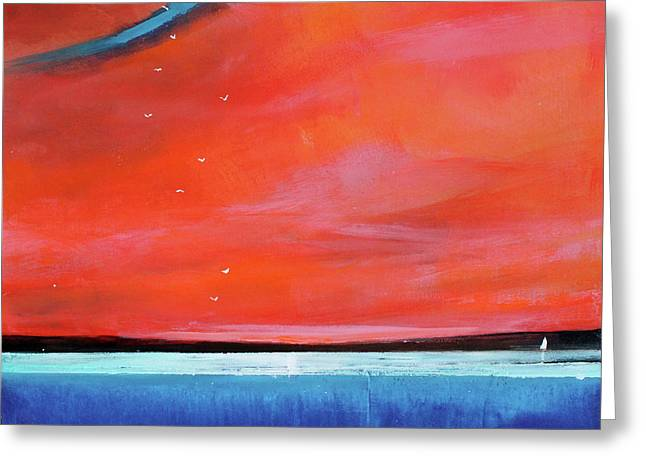 Surreal Landscape Greeting Cards - Freedom Journey Greeting Card by Toni Grote