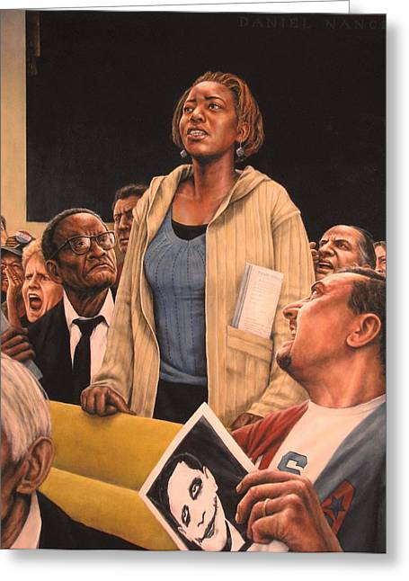 African American History Paintings Greeting Cards - Freedom of Speech 2010 Greeting Card by Dan  Nance