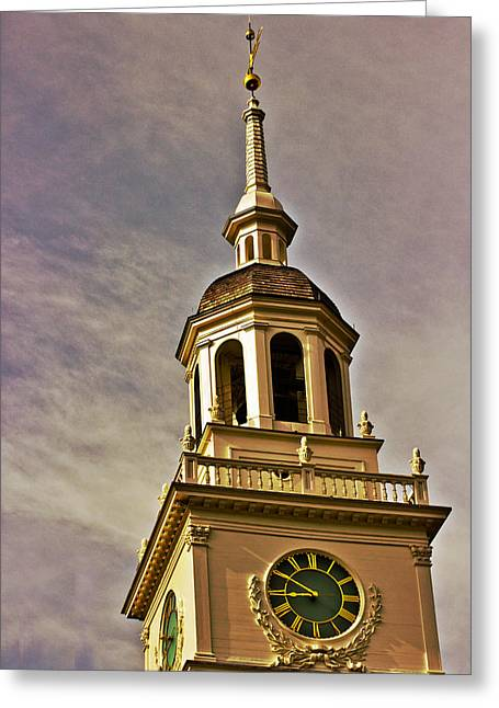 Historic Site Greeting Cards - Freedom Rings Greeting Card by Tom Gari Gallery-Three-Photography