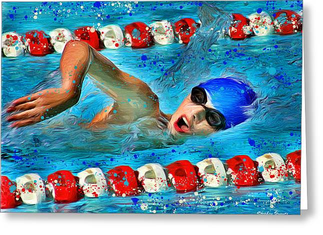 Freestyle Greeting Card by Stephen Younts