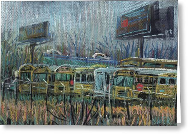 Second Pastels Greeting Cards - Freeway Exit Greeting Card by Donald Maier