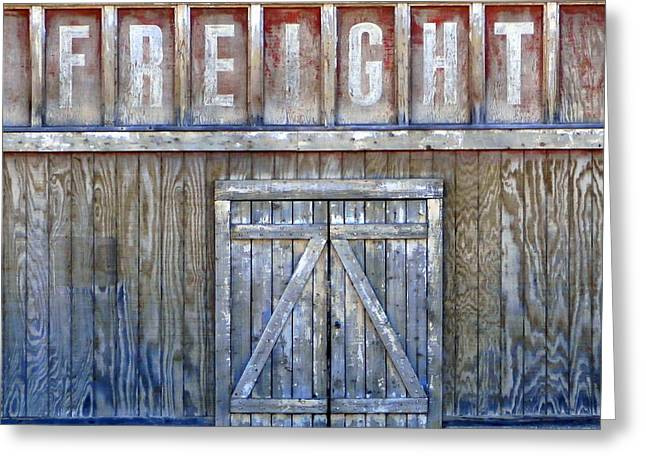 Architectural Photography Greeting Cards - Freight - Architectural Photography Greeting Card by Karyn Robinson