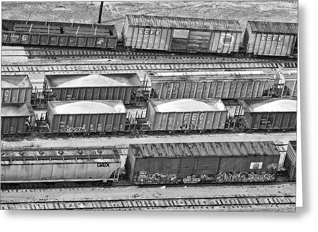 Fec Greeting Cards - Freight Trains Greeting Card by Patrick M Lynch