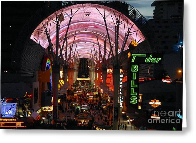 Fremont Street Greeting Cards - Fremont Street Greeting Card by David Lee Thompson