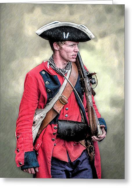 Militaria Greeting Cards - French and Indian War British Royal American Soldier Greeting Card by Randy Steele