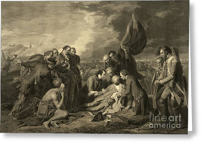1750s Greeting Cards - French And Indian War, General Wolfes Greeting Card by Photo Researchers