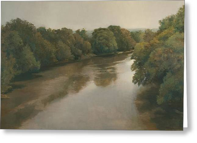 Overhang Greeting Cards - French Broad River Greeting Card by Peter  Campbell