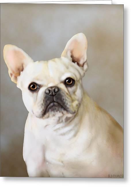 French Bulldog Luna Greeting Card by Barbara Hymer
