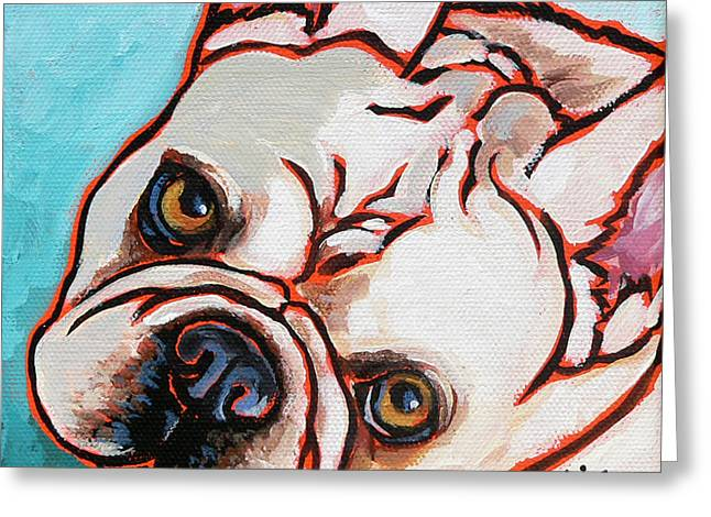 Nadi Spencer Paintings Greeting Cards - French Bulldog Greeting Card by Nadi Spencer