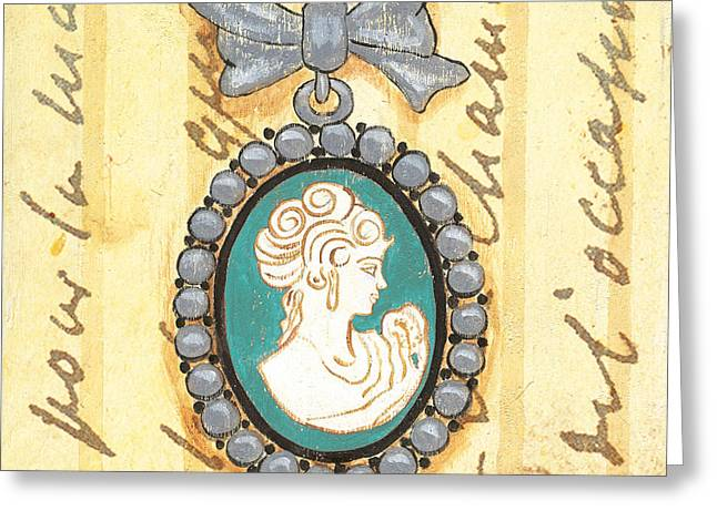 Jewelry Greeting Cards - French Cameo 1 Greeting Card by Debbie DeWitt