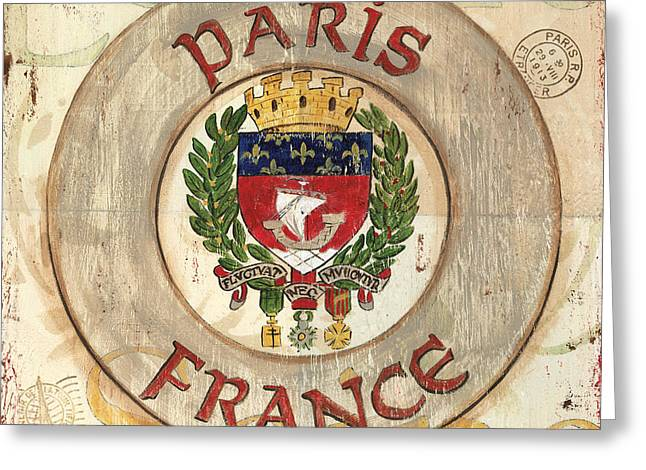 French Coat Of Arms Greeting Card by Debbie DeWitt