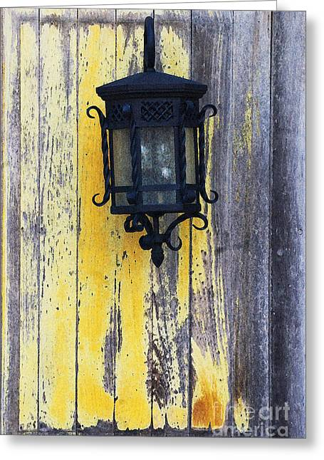 Country Cottage Mixed Media Greeting Cards - French Country Light Greeting Card by AdSpice Studios