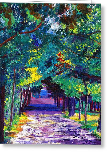 Lavendar Greeting Cards - French Country Road Greeting Card by David Lloyd Glover