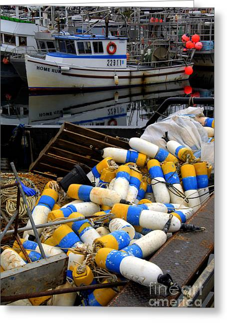 French Creek Marina Greeting Cards - French Creek Trawlers Greeting Card by Bob Christopher