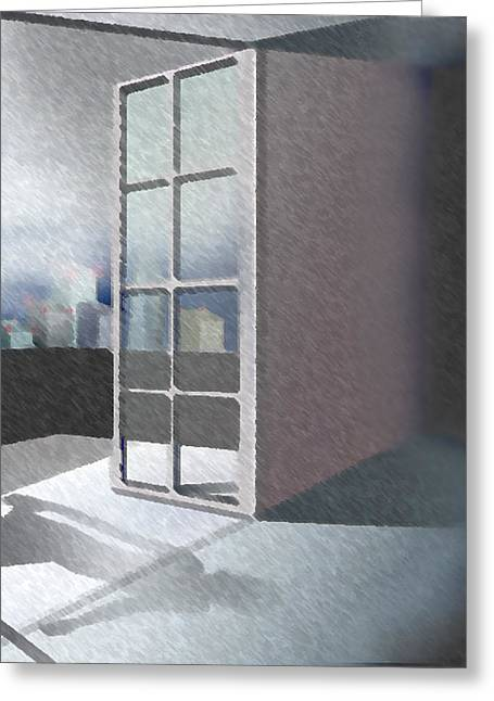 French Doors Greeting Cards - French Door Greeting Card by Hiroki Uchida
