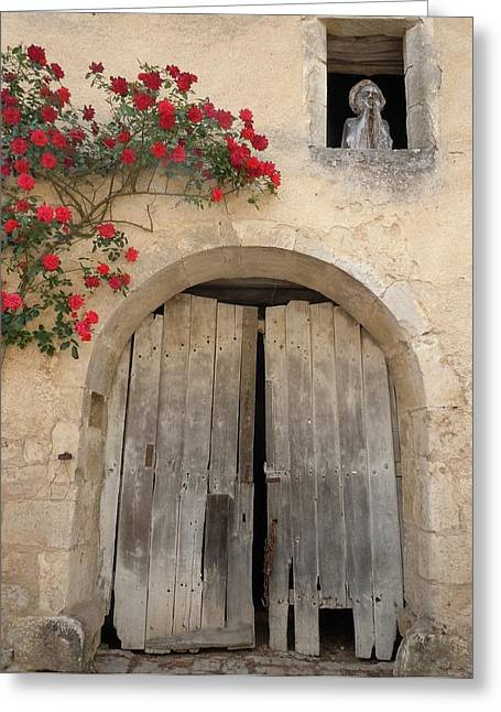 Europe Greeting Cards - French Doors and Ghost in the Window Greeting Card by Marilyn Dunlap