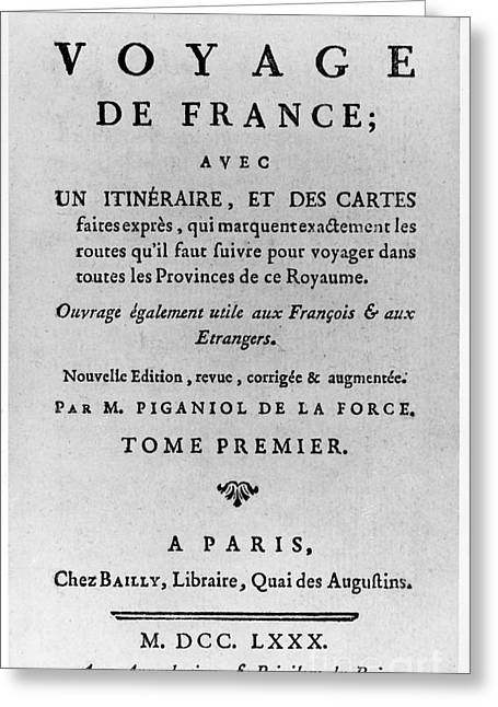 Book Title Greeting Cards - French Guide Book, 1780 Greeting Card by Granger