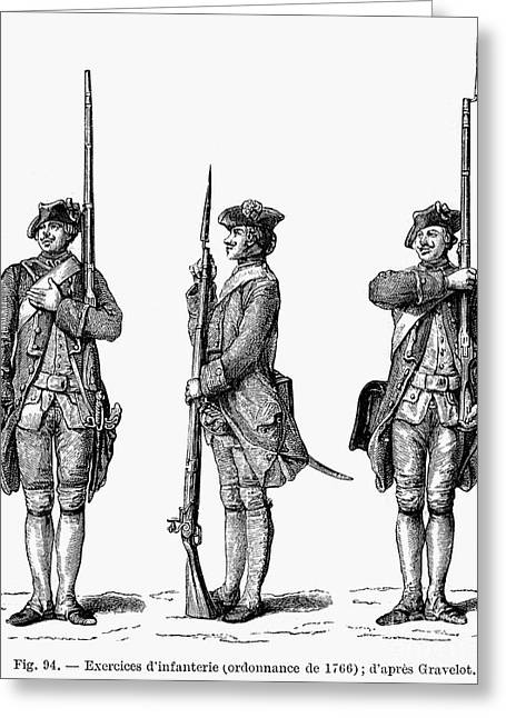 Bayonet Greeting Cards - FRENCH INFANTRY, c1766 Greeting Card by Granger