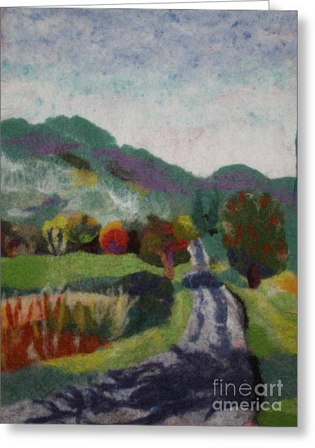 French Tapestries - Textiles Greeting Cards - French Landscape Greeting Card by Nicole Besack