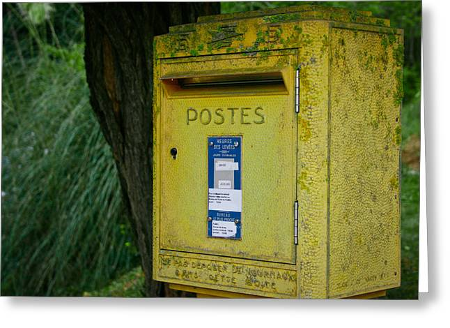 French Mailbox Greeting Card by Georgia Fowler