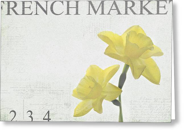 Market Photographs Greeting Cards - French Market Series B Greeting Card by Rebecca Cozart