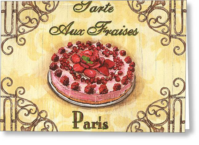 Strawberry Cakes Greeting Cards - French Pastry 1 Greeting Card by Debbie DeWitt