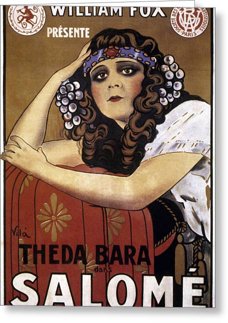 """""""french Poster"""" Greeting Cards - French Poster: Salome, 1918 Greeting Card by Granger"""