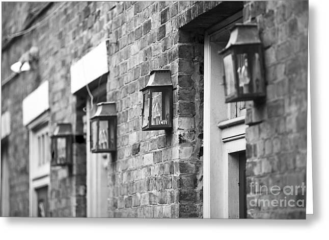 French Quarter Lamps Greeting Card by Leslie Leda