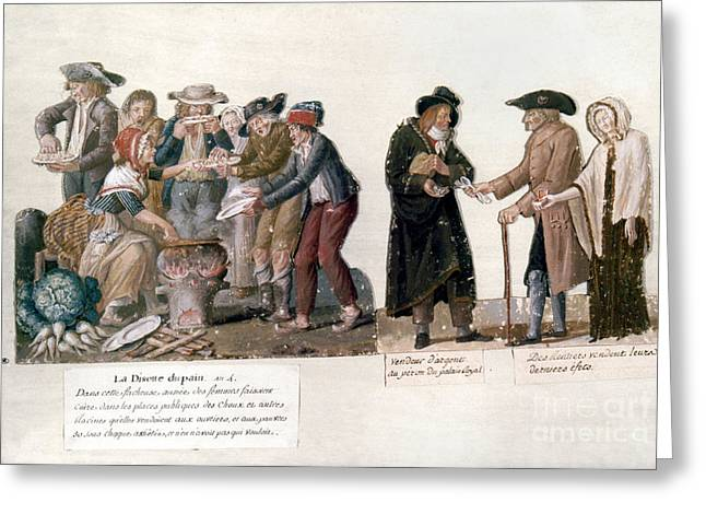 Gouache Photographs Greeting Cards - French Revolution, 1795-96 Greeting Card by Granger