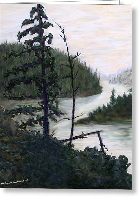 Sudbury River. Greeting Cards - French River Country Northern Ontario Greeting Card by Ian  MacDonald
