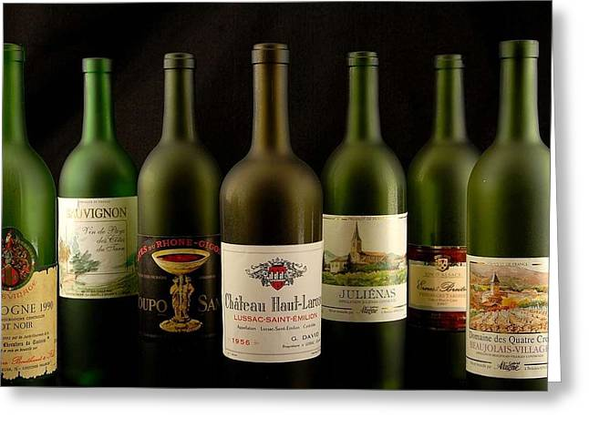 French wine labels Greeting Card by David Campione