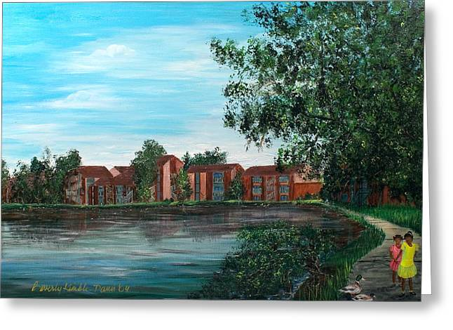 Evacuee Greeting Cards - Frenchmans Wharf Stroll Greeting Card by Beverly Kimble Davis