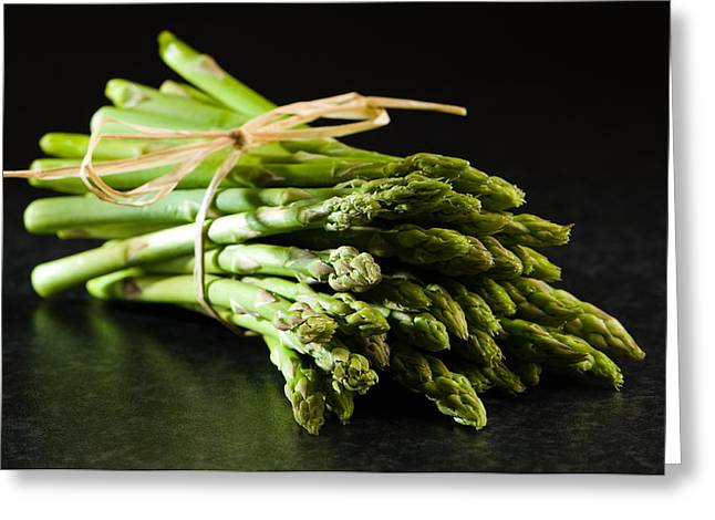 Black Tie Greeting Cards - Fresh Asparagus Tips Greeting Card by Amanda And Christopher Elwell