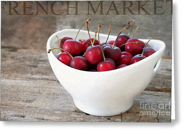 Reflex Greeting Cards - Fresh Cherries Greeting Card by Darren Fisher