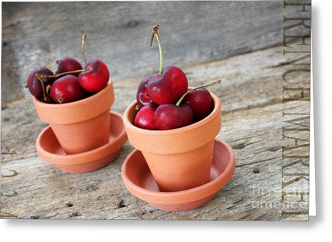 Reflex Greeting Cards - Fresh Cherries II Greeting Card by Darren Fisher