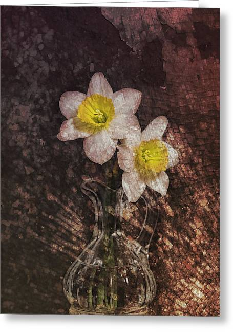 Texture Flower Greeting Cards - Fresh Cut Greeting Card by Peter Chilelli