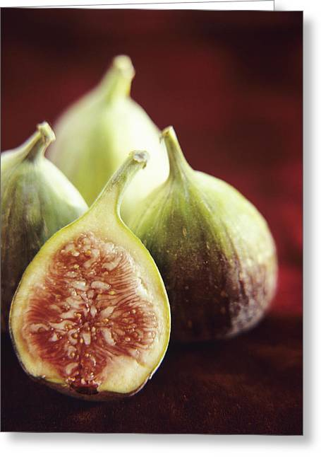 Ficus Greeting Cards - Fresh Figs Greeting Card by Veronique Leplat