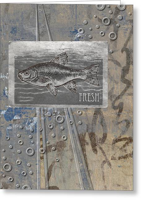 Label Photographs Greeting Cards - Fresh Fish Greeting Card by Carol Leigh