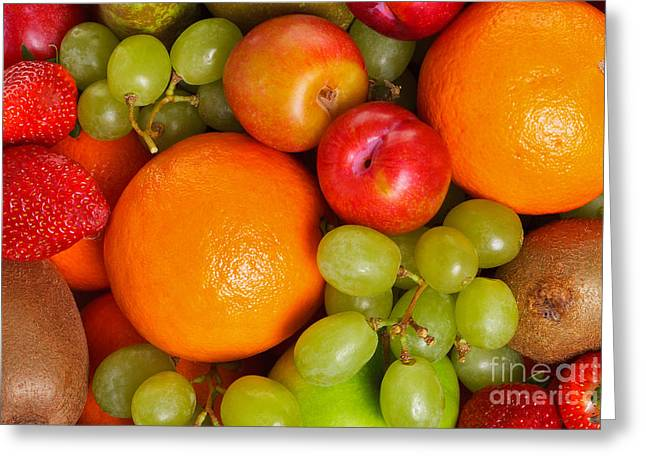 Mango Greeting Cards - Fresh fruit  Greeting Card by Richard Thomas