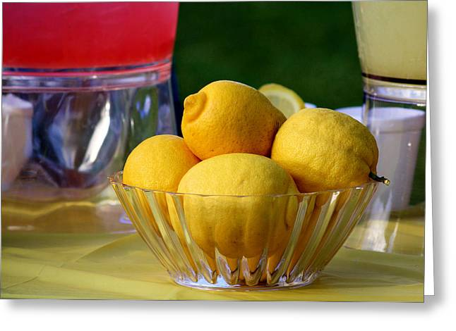 Sour Greeting Cards - Fresh Lemons Greeting Card by Karen M Scovill