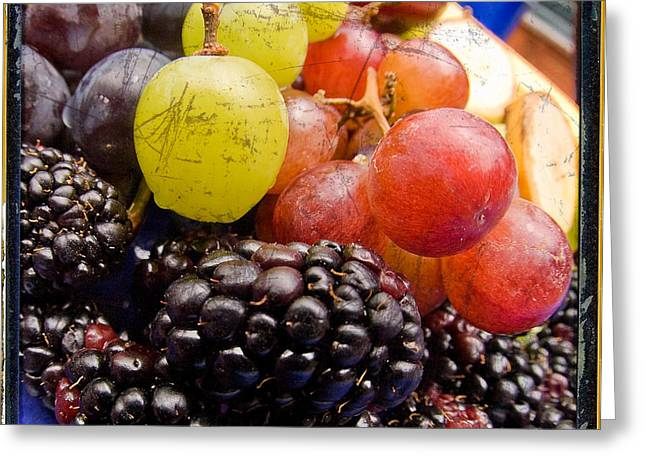 Black Berries Greeting Cards - Fresh not Frozen Greeting Card by Jeff Ball