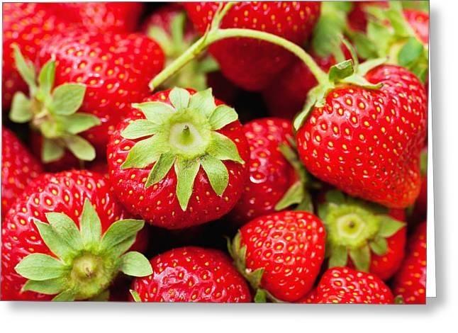 Fresh Strawberries Greeting Card by Marta Holka
