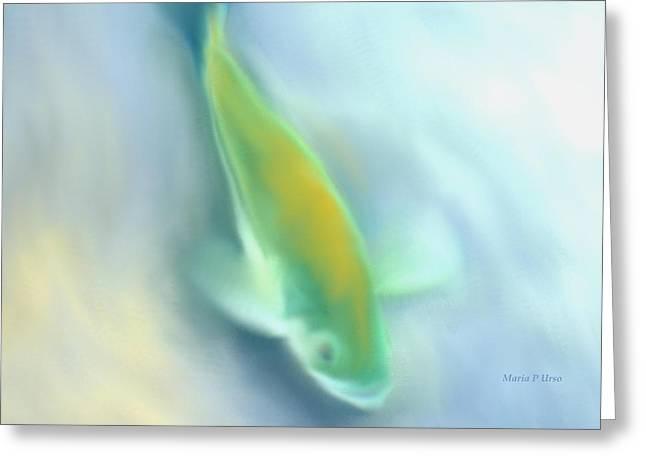 Maria Urso Digital Art Greeting Cards - Fresh Water Trout Greeting Card by Maria Urso