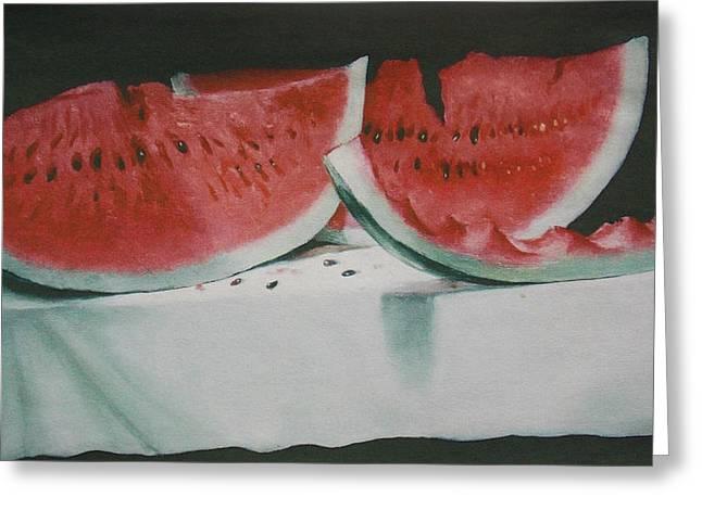 Watermelon Greeting Cards - Fresh Watermelon  Greeting Card by Bill Joseph  Markowski