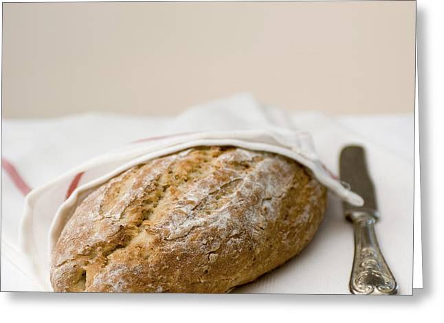 freshly baked whole grain bread Greeting Card by Shahar Tamir