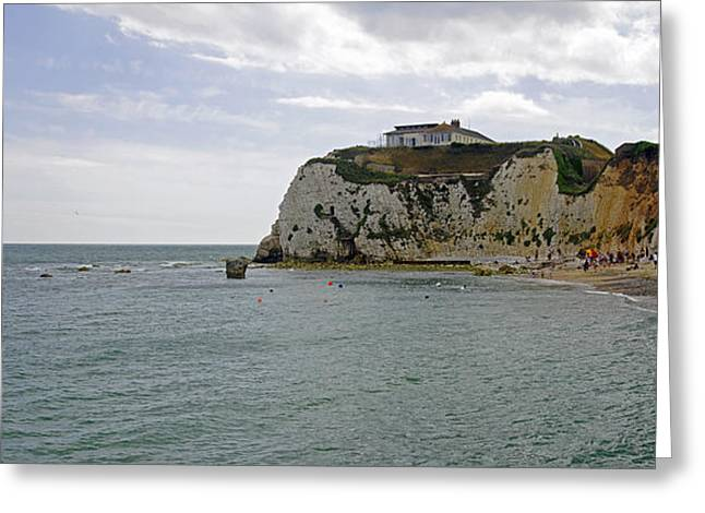 Seaside Greeting Cards - Freshwater Redoubt IOW Greeting Card by Rod Johnson