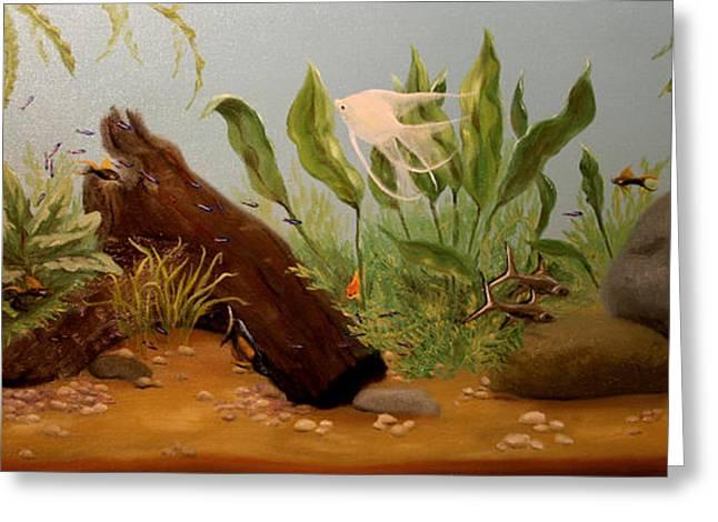 Aquarium Fish Greeting Cards - Freshwater Social Greeting Card by RMDee Riggs