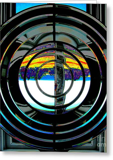 Original Art Photographs Greeting Cards - Fresnel Lens Greeting Card by Colleen Kammerer