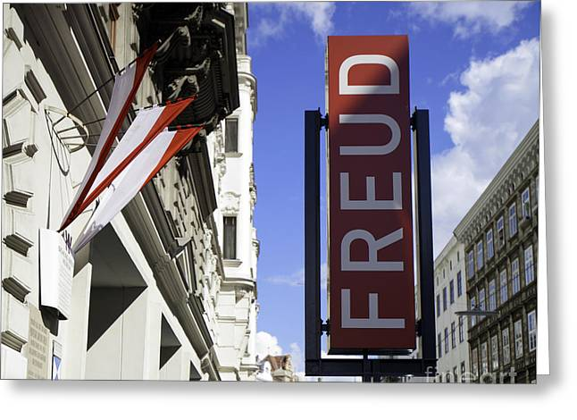 Freud Greeting Cards - Freud - Beggasse 19  Greeting Card by Madeline Ellis