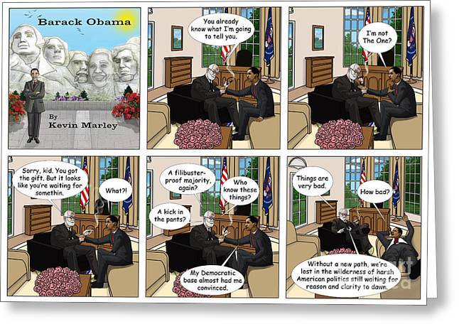 Michelle Obama Digital Art Greeting Cards - Freud and His Diagnosis II Greeting Card by Kevin  Marley